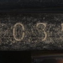 Image of disk number on edge