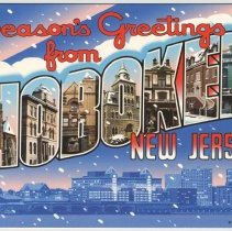 "Image of Notecard: ""Season's Greetings from Hoboken, New Jersey"" 2006 revision of 2005 notecard by Hoboken artist Raymond Smith, Hoboken, 2006. - Notecard"