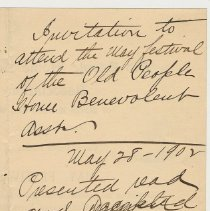 Image of Doc 1: detail reverse City Clerk's file notes