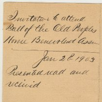 Image of Doc 2: detail reverse with City Clerk's file notes