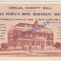 Image of Document 3: Ticket, Charity Ball, Feb. 12, 1903