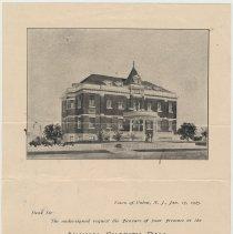 Image of Doc 4: invitation Annual Charity Ball, Feb. 13, 1905