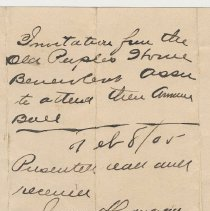 Image of Doc 4: detail reverse center: City Clerk's file notes