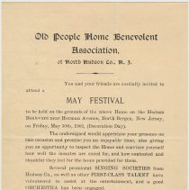 Image of Doc 1: Invitation May Festival,  May 30, 1902 (Decoration Day)