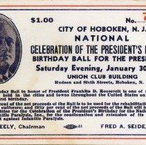 Image of ticket 1943, 61st birthday