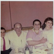 Image of Color photo of the Jaccodine family in Jac-O-Dine Luncheonette, 401 Bloomfield St., Hoboken, ca. 1960. - Print, Photographic