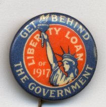 Image of Button: Get Behind the Government. Liberty Loan of 1917. - Pin