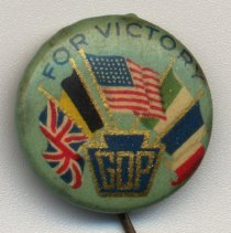 Image of Button: [American Red Cross], 1919. - Pin, Political
