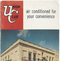 Image of Brochure: Union Club, Sixth and Hudson Streets, Hoboken, N.J. No date, circa 1961-1965. - Brochure