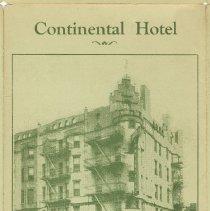 Image of Brochure: Continental Hotel, 101 Hudson Street, Hoboken, N.J. n.d, ca. 1928-1929. - Brochure
