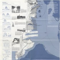 Image of Brochure (poster): Hudson Waterfront Walkway Plan. No date, circa 1984. - Brochure