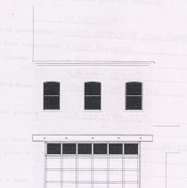 Image of pg 3 of 3: detail of elevation showing proposed changes
