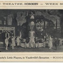 Image of Postcard: Lyric Theatre, Hoboken - Week Sep. 20. Melville Stoltz' Little Players, In Vaudeville's Sensation - Kiddieland. - Postcard