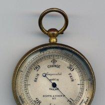 Image of Aneroid surveying barometer, watch pattern, model no. 5855?, sold by Keuffel & Esser Co., N.Y., n.d., ca. 1920-1940. - Barometer, Aneroid
