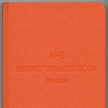 Image of K&E Mining Transit Book, 82 0030, made by the Keuffel & Esser Co., n.p., either Hoboken or Morristown, N.J., n.d., ca. 1960-1970. - Book