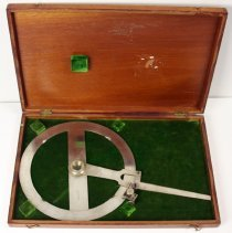 Image of open case with protractor