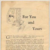 Image of pg [20] back cover: Cocomalt