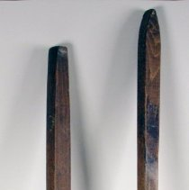 Image of Oven brushes used for cleaning bread baking ovens at Grand Bakery, 738 Willow Ave., Hoboken, ca. 1960-2004. - Brush