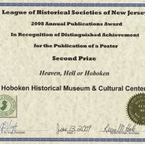 Image of certificate 6: Second Prize, Poster, Heaven Hell or Hoboken