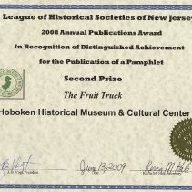 Image of certificate 7: Second Prize, Pamphlet, The Fruit Truck