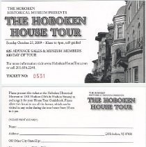 Image of advance sale ticket voucher, front and back