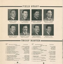 Image of pg [12]: Field Staff; Troop Roster; Council Office