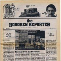 Image of Newspaper: The Hoboken Reporter, Vol. 1, No. 1, Sept. 21, 1983. - Newspaper