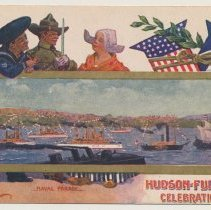 Image of 3: Naval Parade; scene on the Hudson River