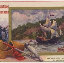 Image of 4: The Half Moon ascending the Hudson, September, 1609.
