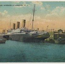 Image of Postcard: S.S. Vaterland, Interned at Hoboken, N.J. Postmarked February 12, 1917. - Postcard