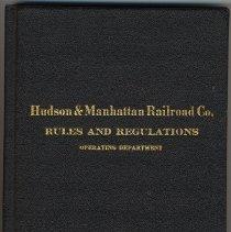 Image of Hudson & Manhattan Railroad Co. Rules & Regulations, Operating Dept. Effective Oct. 1, 1923. - Book, Instruction