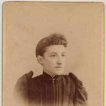 Image of Cabinet photo of woman taken by [Christian] Durstewitz, 502 Washington St., Hoboken, n.d., ca. 1892-1900. - Print, Photographic