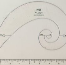 Image of Logarithmic spiral curve, model no. 57 1000, made by Keuffel & Esser Co., n.d., ca. late 1950s - 1960s. - Curve