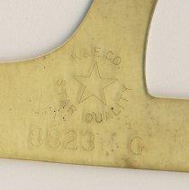 Image of detail manufacturer's marks