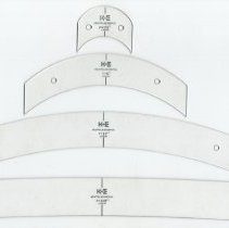 "Image of 4 typical curves: 1-1/2""; 6""; 18""; 120"" (partial view of 18"" length)"