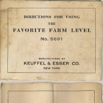 Image of booklet cover and inside front cover with 1920 copyright
