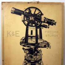 Image of Sign: K & E Precise & Sturdy; K&E Transit; K&E Level. Issued by Keuffel & Esser Co., (N.Y.), n.d., ca, 1945-1960. - Sign