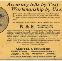 Keuffel Amp Esser Co A Manufacturer Of Drafting