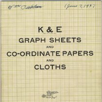 Image of Catalogue: K & E Graph Sheets & Co-ordinate Papers & Cloths. Keuffel & Esser Co., N.Y. 1937. - Catalog