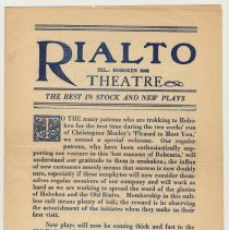 "Image of Program: ""Pleased to Meet You."" Play by Christopher Morley. Hoboken Theatrical Co., Rialto Theatre, Hoboken, Oct. 29-Nov. 11, 1928. - Program"