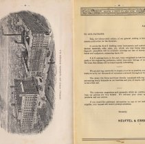 Image of pp ii-iii: illustration of Hoboken plant & notice about catalog