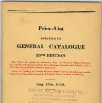 Image of cover of price list
