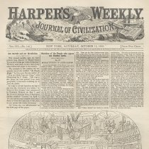 Image of Article & illustrations on cricket & baseball matches in Hoboken, Harper's Weekly, Oct. 15, 1859. - Magazine