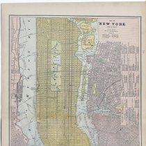 Image of full map New York 1886 (with Hoboken)