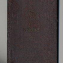 Image of detail maker's marks on black