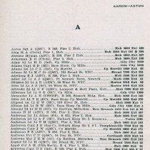 Image of pg 3,  Aaron - Axton; page 2 is a blank