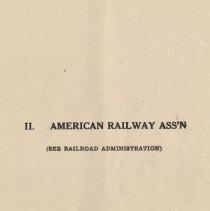 Image of pg [51]: II. American Railway Ass'n.