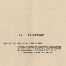 Image of pg [55]: IV. Chaplain [American Red Cross; Knights of Columbus; YMCA]