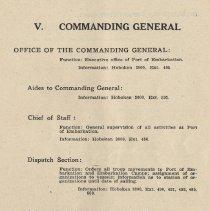 Image of pg 57: V. Commanding General