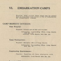 Image of pg 59: VI. Embarkation Camps
